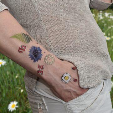 temporary design tattoo